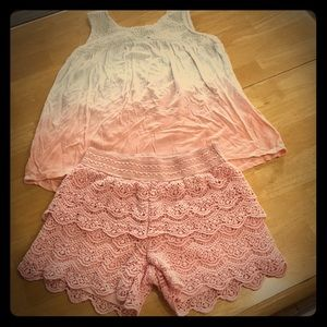 Justice Coral Outfit Size 12